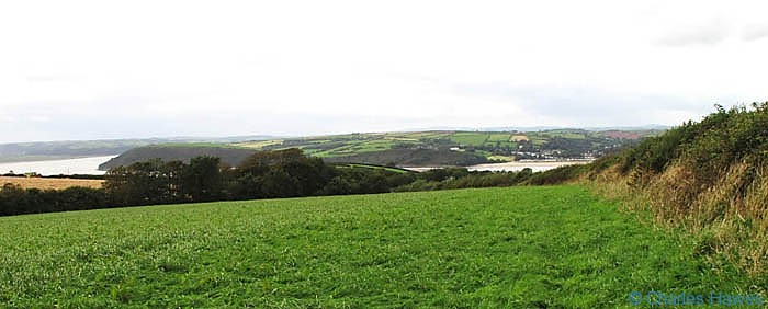 View of the Towy estuary on the Wales Coast Path between Kidwelly and Carmarthen, photographed by Charles Hawes. Walking in Wales.