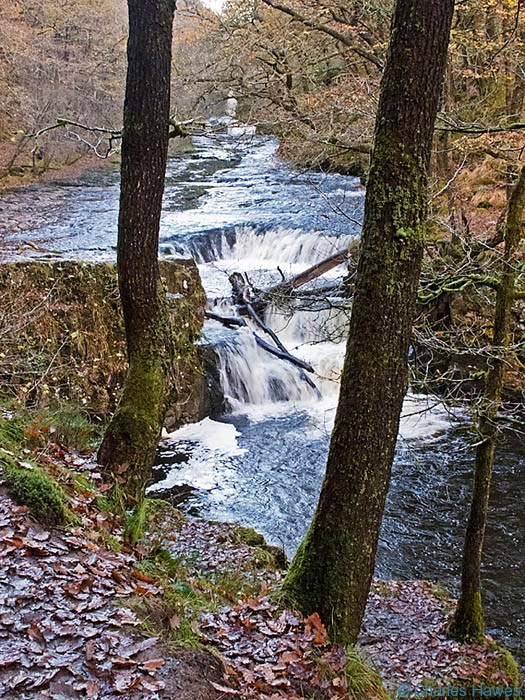 Horsehoe waterfalls near Pontneddfechan, south wales. Photograph by Charles Hawes. Walking in Wales.