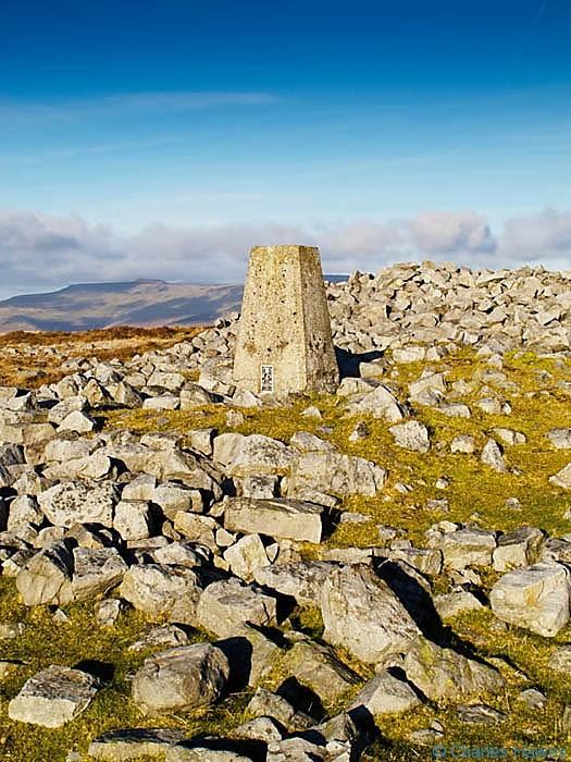 Trig Point on Twr Pen-cyrn, Mynydd Pen-cyrn, Powys, photographed by Charles Hawes
