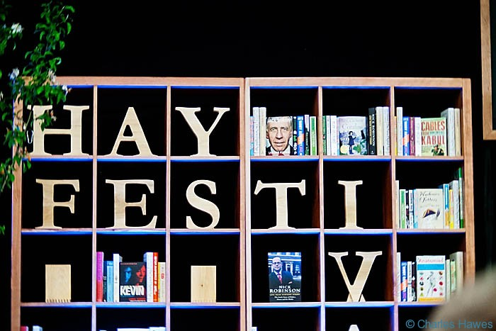 Inside the Google Big Tent, Hay-on-Wye Festival 2013. Photograph by Charles Hawes