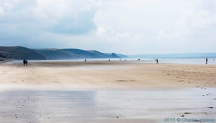 Newgale Sands, Pembrokeshire, photographed by Charles Hawes