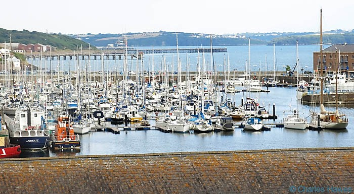 The Marina in Milford Haven in Pembrokeshire, photographed from The Wales Coast path by Charles Hawes