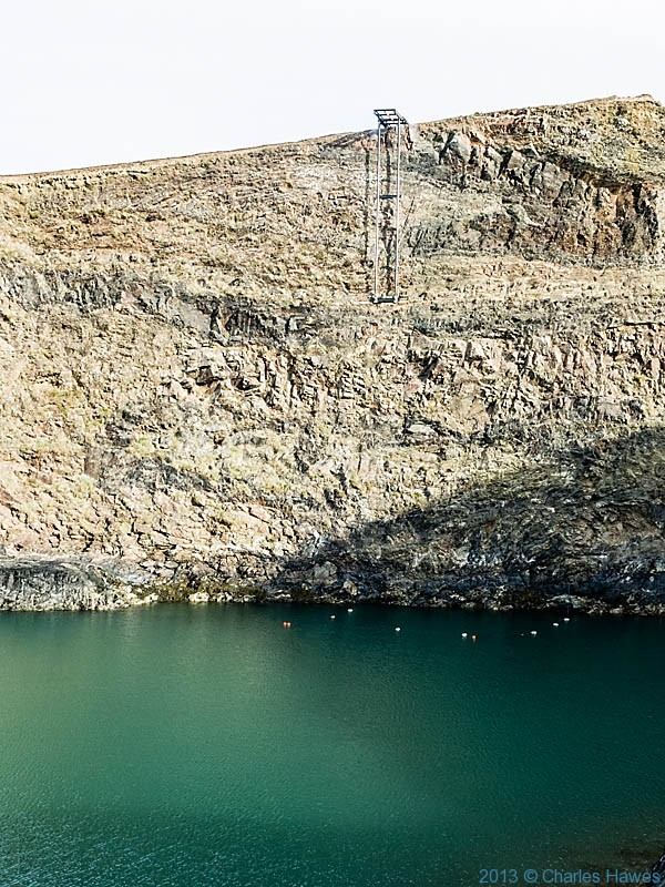 Diving platform in The Blue Lagoon, Abereiddy, Pembrokeshire, photographed by Charles Hawes