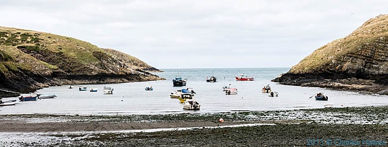 The beach at Abercastle, photographed from The Wales Coast path by Charles Hawes