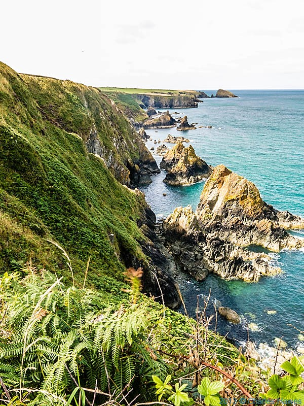 The coast near Abercastle photographed from The Wales Coast path by Charles Hawes