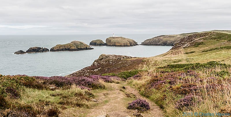 View to Strumble Head Lighthouse, photographed from The Wales Coast Path by Charles Hawes