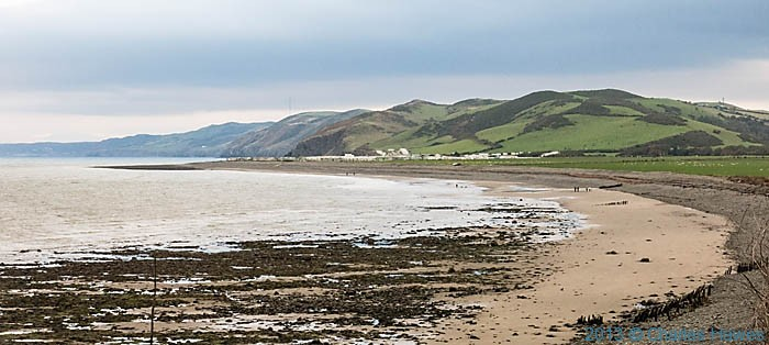 view to the caravan parks at the mouth of the Wyre, photographed from The Wales Coast Path by Charles Hawes