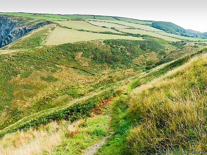 Valley near Pwllygranant in Pembrokeshire, photographed from The Wales Coast path by Charles Hawes