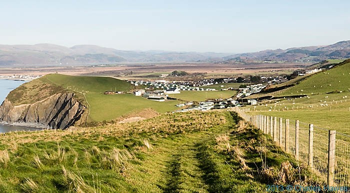 Caravan park near Upper Borth in Ceredigion photographed from the Wales Coast path by Charles Hawes