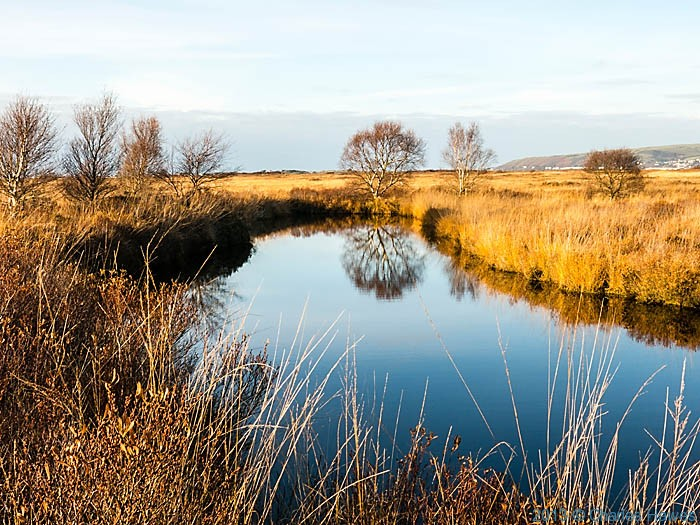 Cors Fochno  or Borth Bog, photographed from The Wales Coast path by Charles Hawes