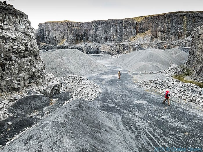 Penwyllt quarry, photographed by Charles Hawes