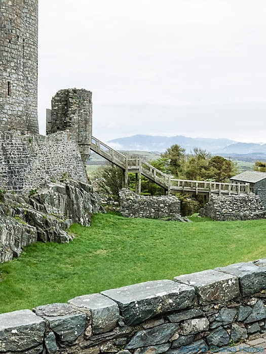 Harlech Castle, photographed by Charles Hawes