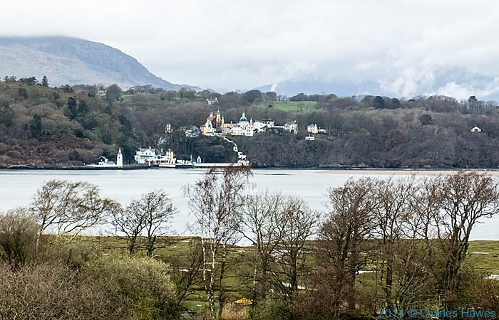 View of Portmeirion across the River Dwyryd estuary, photographed from The Wales Coast Path by Charles Hawes