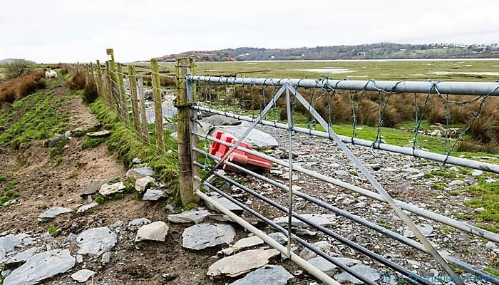 Wales Coast path  near Bryn Glas, photographed by Charles Hawes
