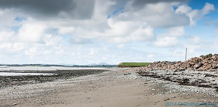 Beach  with view to Pwllheli photographed by Charles Hawes