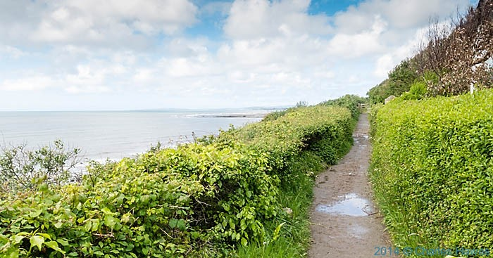 The wales Coast path as it leaves Criccieth, Lleyn peninsula, photographed by Charles Hawes
