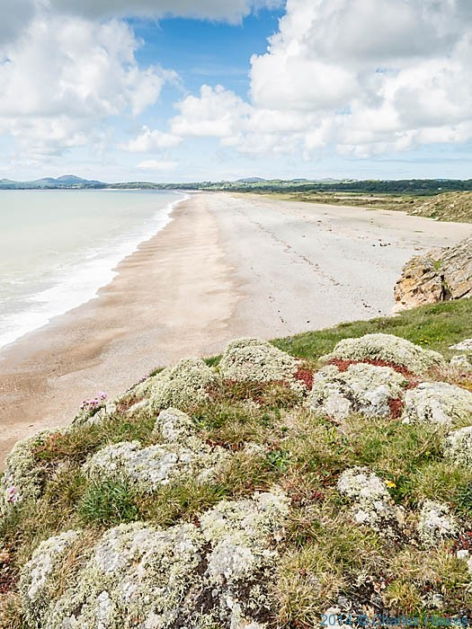 View down Morfa Abererch from Pen-y-chain, photographed from The Wales Coast Path by Charles Hawes