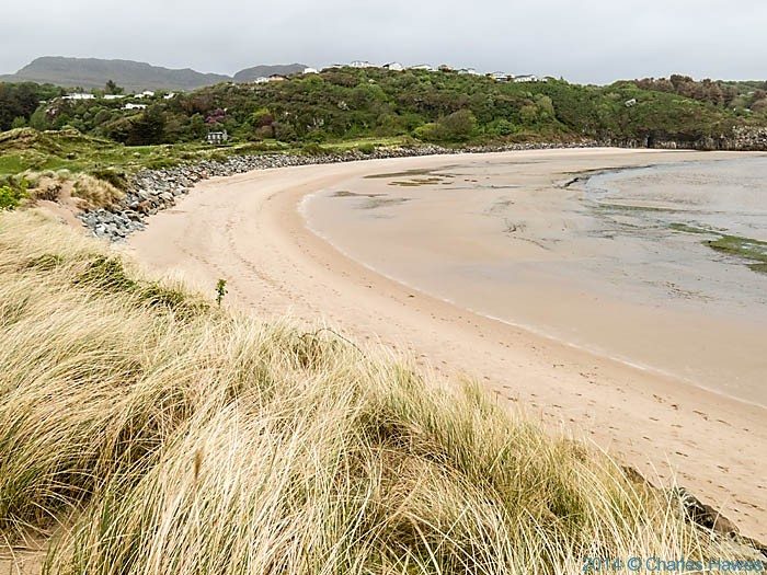 Beach below Porthmadog Golf Club, photographed from The Wales Coast Path by Charles Hawes