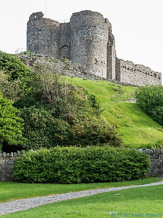 Criccieth castle, Lleyn peninsula, photographed from The Wales Coast Path by Charles Hawes