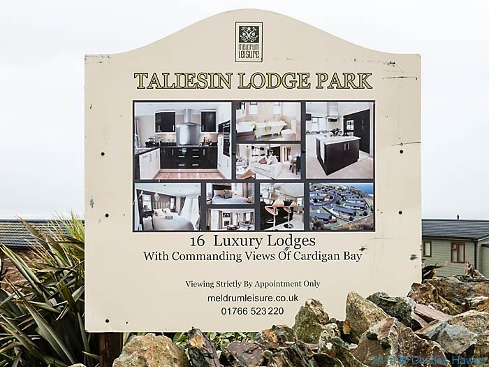 Entrance to Taliesen Lodge Park, plleyn peninsula,hotographed from The Wales Coast Path by Charles Hawes