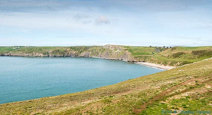 View to Porth Ceiriad from the Wales Coast Path, photgraphed by Charles Hawes