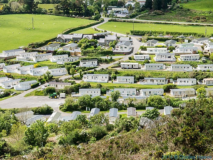 Static caravan park near Abersoch, photographed from The Wales Coast Path by Charles Hawes