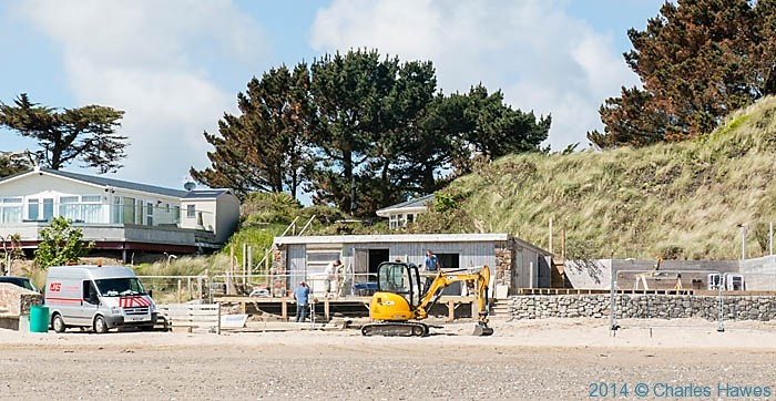 The beach at Abersoch, on the Lleyn peninsula, photographed from The Wales Coast path by Charles Hawes
