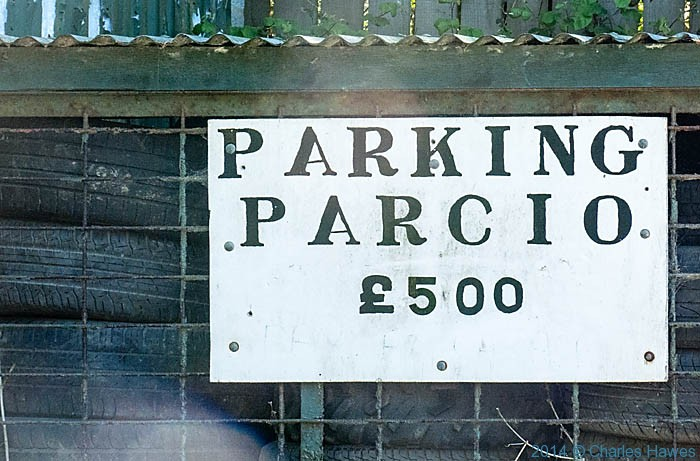 Car park sign in Abersoch photographed by Charles Hawes