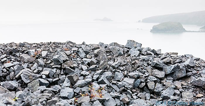 Spoil heap of nany mine nant-y-Gadwen, wales, photographed by Charles Hawes