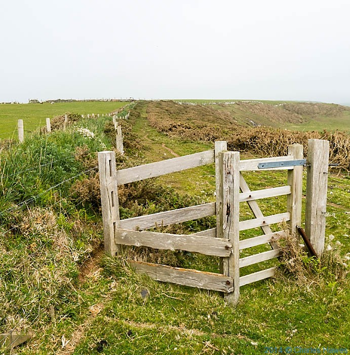 Abandoned or closed footpath on the Lleyn peninsula near Aberdaron, photographed by Charles Hawes