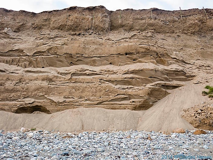 Sand cliffs on the Welsh Coast near Gyrn Goch, photographed by Charles Hawes