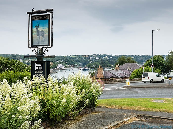 The Antelope pub, Banogor, photographed from The Wales Coast Path by Charles Hawes