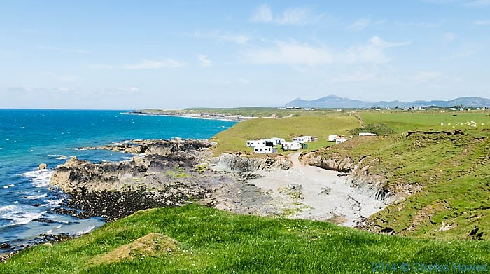 Caravan site near Towyn, photographed from The Wales Coast Path by Charles Hawes