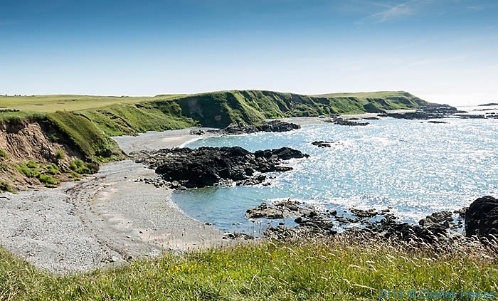Borth Wen, photographed from The Wales Coast Path by Charles Hawes