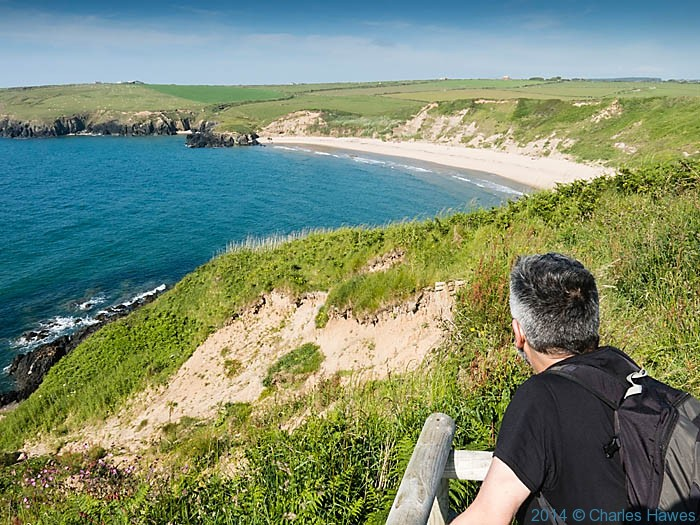 view to Whistling Sands from near Dinas Bach on the Lleyn peninsula, photograhed from The Wales Coast Path by Charles Hawes