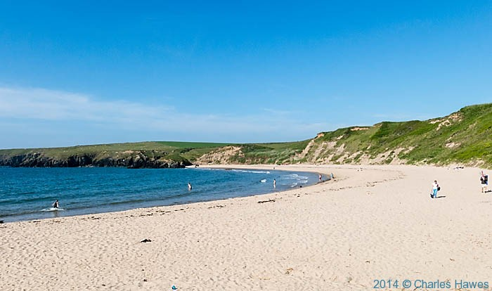 Whistling Sands (Porth Oer), photographed from The Wales Coast Path by Charles Hawes
