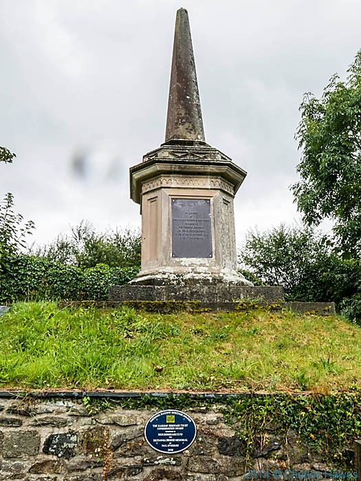 Britannia Bridge memorial, St Mary's churchyard, Anglesey, photographed by Charles Hawes