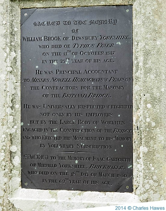 emorial to accountant for the BritammiaBridge, photographed by Charles Hawes