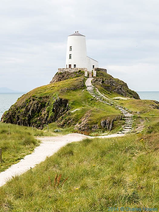 Lighthouse on Llanddwyn Island, Anglesaey, photographed by Charles Hawes
