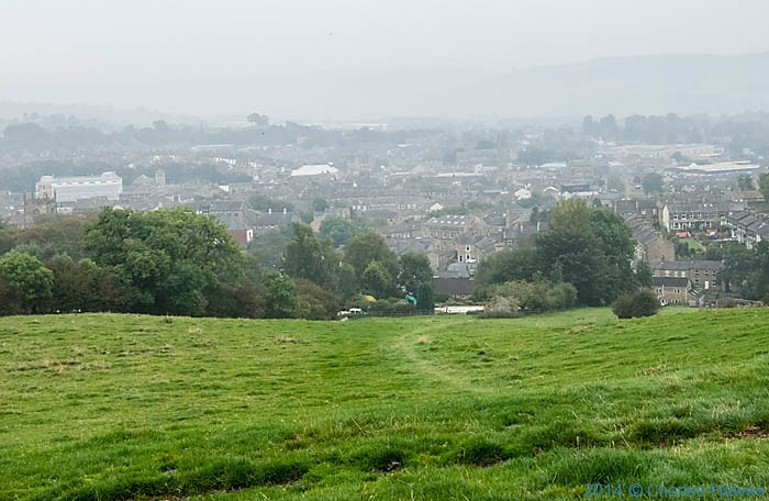 View over Skipton from Park Hill, photographed from The Dales High way by Charles Hawes