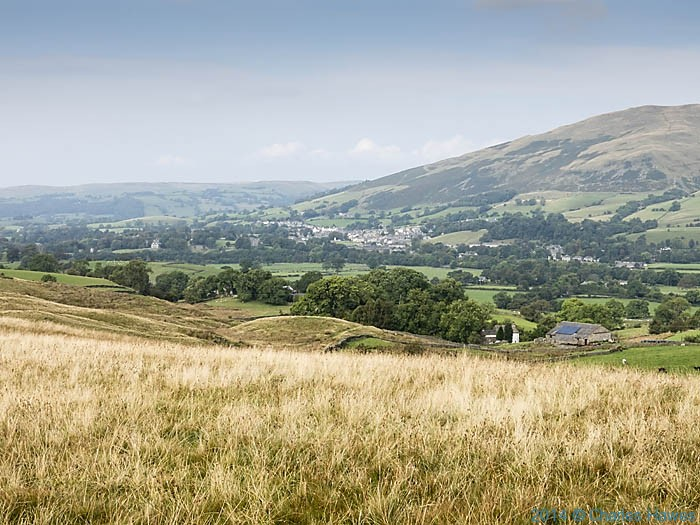 View to Sedburgh from The Dales Haigh Way, photographed by Charles Hawes
