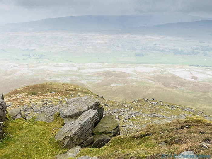 View to Whernside from Ingleborough, photographed by Charles Hawes