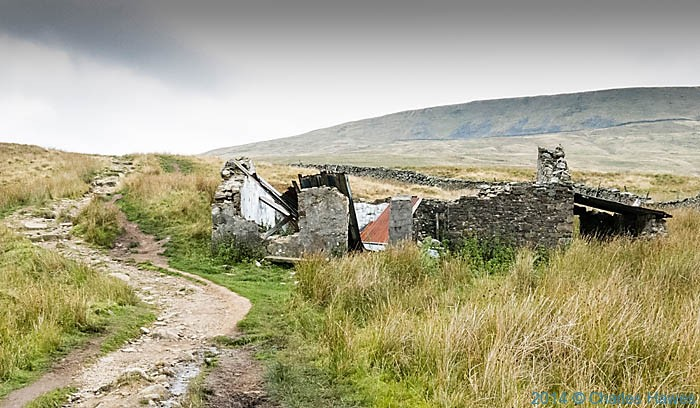 Ruined farmstead on the Dales High Way near Ingleborough, photographed by Charles Hawes
