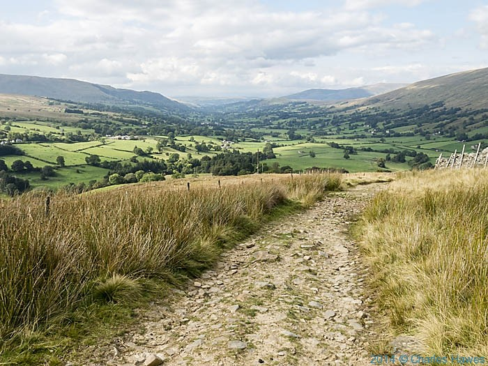 View to Dentdale from the Dales High Way, photographed by Charles Hawes