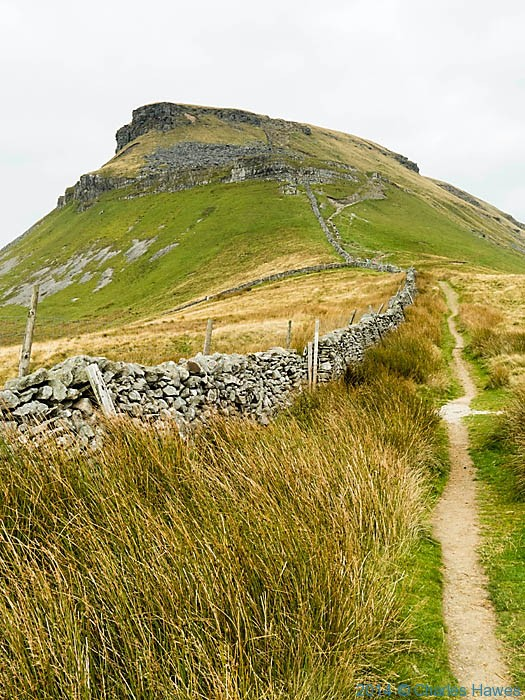 The approach to Pen-y-Ghent from the Pennine way, photographed by Charles Hawes