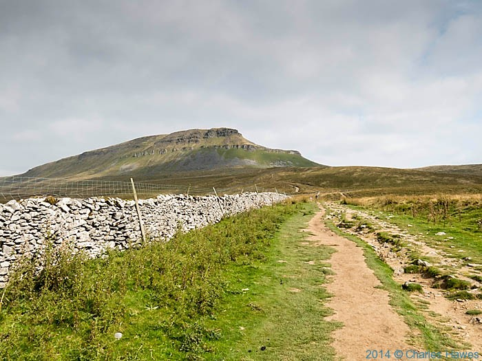 Pen-Y-Ghent photographed from Near Horton-in-Ribblesdale by Charles Hawes
