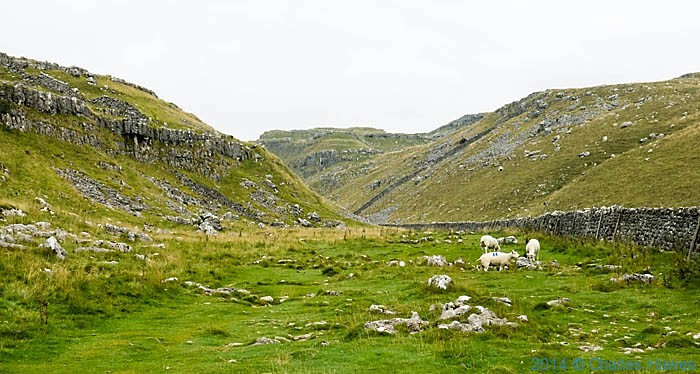 Ing Scar, Malham, Yorkshire, photographed on The Pennine Way by Charles Hawes