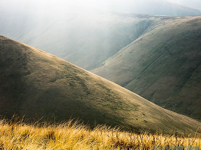 Bowderdale viewed from Randygill Top, Howgill Fells, Cumbria, photographed by Charles Hawes