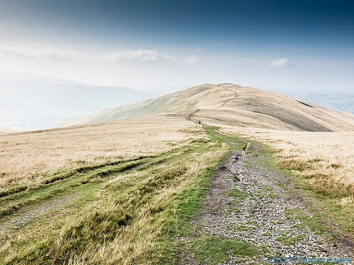 View north from near Calders on the Howgill Fells, photographed from the High Dales Way by Charles Hawes