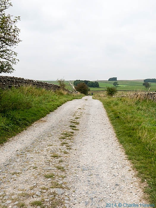 Moor Lane, photographed from The Dales  Way by Charles Hawes